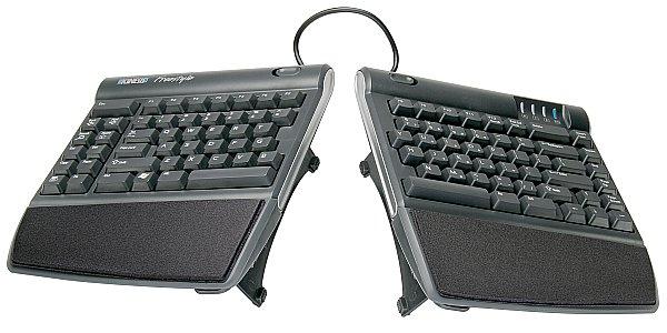 Kinesis Freestyle2 Ergonomic Keyboard w/ VIP3 Lifters for PC